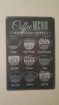 Buy and sell Vintage Coffee Menu Tin Sign Bar Pub Cafe Home Wall Decor Metal Art Posters DT4 products