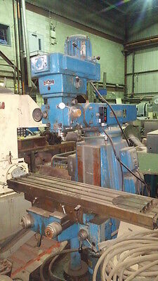 Vertical Ram-type Turret Milling Bridgeport Beaver 10x 48 Table Uk