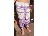 Small Thai Harem Trousers * Hippy * Travel * Yoga * Light * Soft *