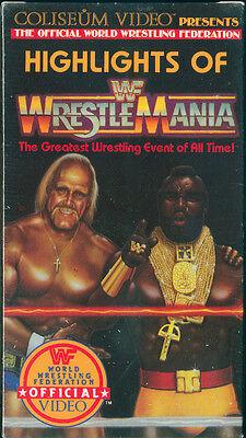 HIGHLIGHTS OF WRESTLEMANIA - Original 1986 Coliseum Video VHS Video Tape - New!