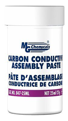 Mg Chemicals 847-25ml Black Carbon Conductive Assembly Paste 1 Oz Jar