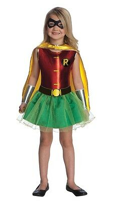 Robin Tutu Child Costume HALLOWEEN Girls Batman Outfit Cute Licensed](Girl Robin Costumes)