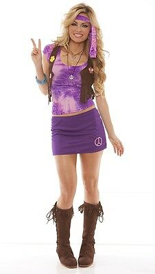 Womens Hippie Costumes (70's Hippie Peace Love Elegant Moments Adult)