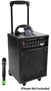 New - PYLEPRO 600 Watt VHF WIRLESS PORTABLE PA SYSTEM