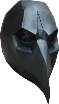 Low-Poly Polygon Black Crow Adult Latex Mask 3D Halloween Costume Accessory New