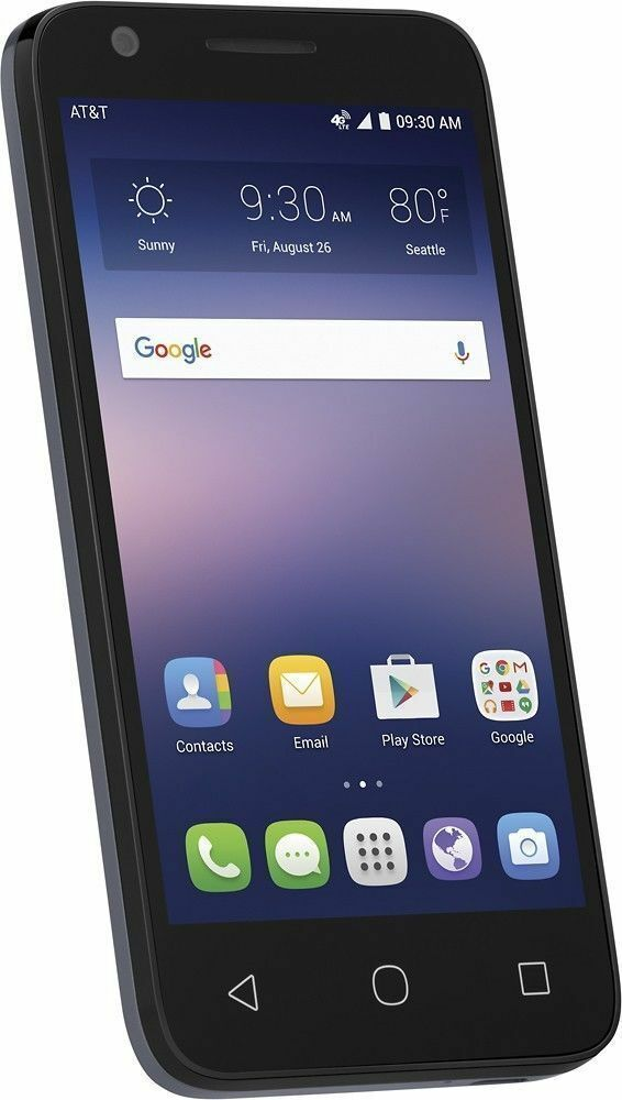 New Alcatel Ideal OT-4060A At&t Unlocked Blue 4G LTE 8GB 4.5
