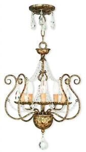 NEW Livex Lighting 51915-36 Modern 5-Light European Bronze Mini Chandelier Condtion: New