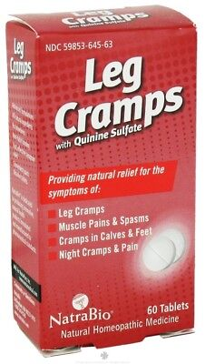 (NatraBio - Leg Cramps with Quinine Sulfate - 60 Tablets)