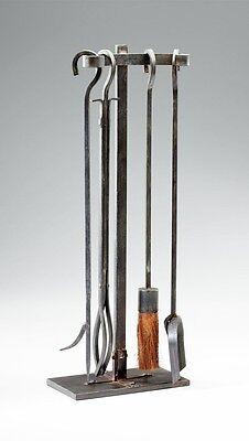Lincoln Rustic Modern Rivet Fireplace Tool Set Hearth Stand ~ 04901 Cyan Design