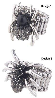 Ganz H8 Halloween Women's Jewelry Zinc Spider Ring 1.5in EH48271 Choose (Ganz Halloween Jewelry)