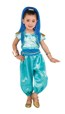 Genie Halloween Costumes For Girls (Girls Shimmer and Shine Genie Shine Costume size XS)