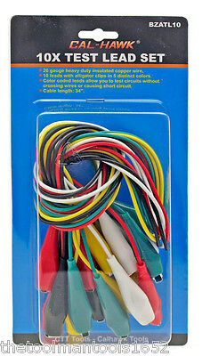 10x Multimeter Electrical Multicolor Alligator Clips Test Lead Cables