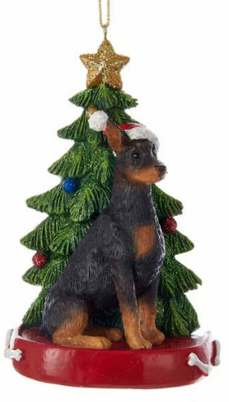 Doberman Pinscher Christmas Tree Ornament