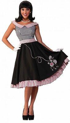 50er Jahre Damen Kostüm - Rock'n'Roll Babe mit Pudel - Fifties 50's - Rosa Pudel Rock 50er Jahre Kostüm