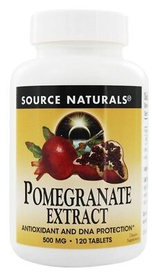 (Source Naturals Pomegranate Extract 500mg, 120 Tablets)