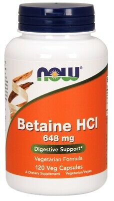 - Betaine HCL648 mg Now Foods 120 Caps