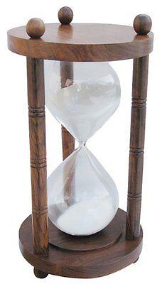 G4143: Maritime XXL Stundenuhr, doppel Glasenuhr, Sanduhr,  Holz 60 Minuten