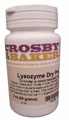 Lysozyme Powder 2 oz. for Home Brew Beer and Wine Making