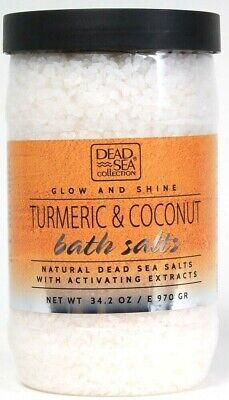 1 Count Dead Sea Collection 34.2 Oz Glow & Shine Turmeric & Coconut Bath Salts
