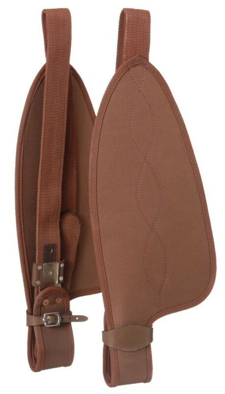 """Western Saddle Synthetic Replacement Fenders - Adults - 22"""" - Brown"""