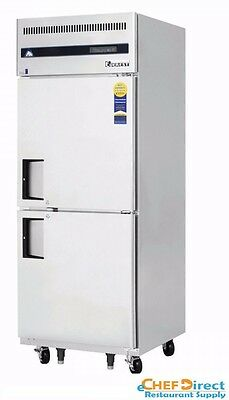 Everest Esfh2 One Section Two Half Door Upright Reach-in Freezer