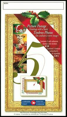 Canada BK232b Christmas Picture 46c booklet open cover with TI