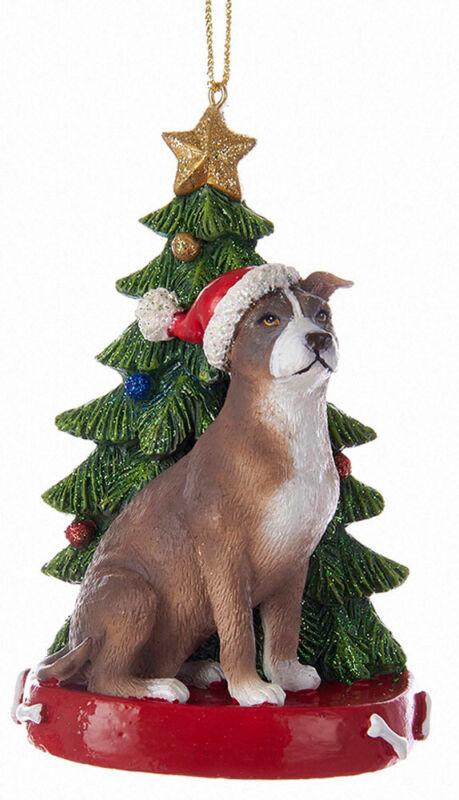 Pitbull Christmas Tree Ornament