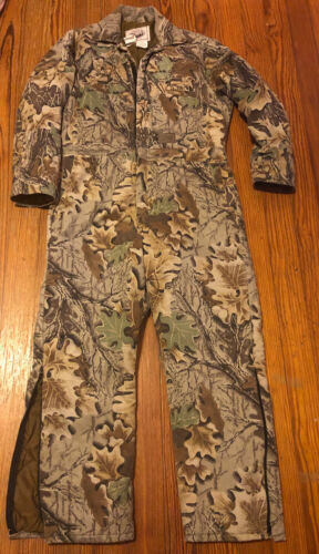 Vintage Walls Blizzard Pruf Lg R Tree Camo Insulated Hunting Coveralls Advantage