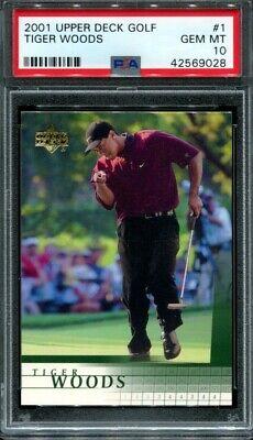 2001 Upper Deck Golf Tiger Woods PSA 10 #1 Rookie RC