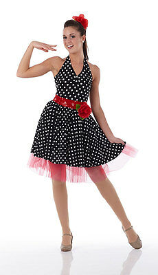 PIN UP GIRL Dance Costume Halloween Ballet Dress 50s Jazz TapTango Child & Adult - Halloween Jazz Dance