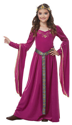 Gothic Halloween Costumes For Girls (Girls Violet Medieval Princess Halloween)