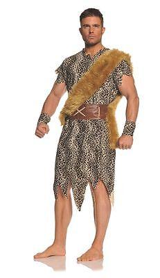 ADULT MENS CAVEMAN CAVEMEN CAVE DWELLER BARBARIAN VIKING FLINTSTONE COSTUME - Cavemen Costumes