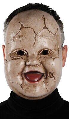 Herren Damen Dead Broken Puppe Baby Halloween Kostüm Kleid Outfit Maske (Baby-Halloween-Kostüm)