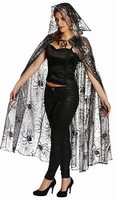 Mot - Kostüm Zubehör Tüll Umhang Spinnennetz Hexe Vampirin Halloween