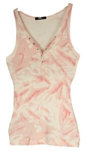 GEORGE-Womens-Ladies-Beach-Pink-Casual-Cotton-Popper-with-Gem-Vest-Pull-Over-Top