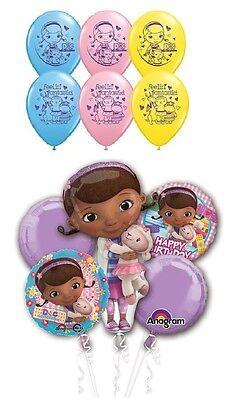 DOC McStuffins Mc Stuffins (11) Happy Birthday Party Mylar & Latex Balloons Set (Doc Mcstuffins Balloons)