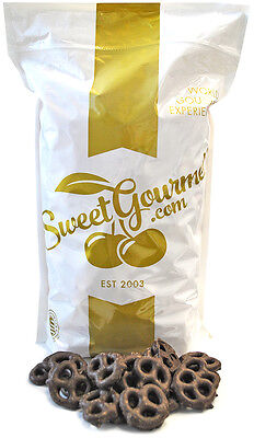 SweetGourmet Dark Chocolate Covered Mini Pretzels  - 4 LB FREE SHIPPING!