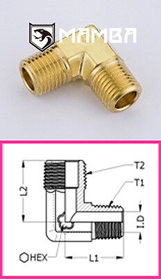 Brass Adapter Fitting Male Elbow 90 Degree 1/2 BSP Male to 1/2 BSP Male (50 pcs)