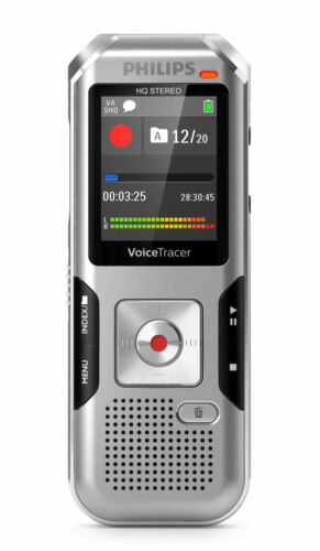 Philips DVT4100 VoiceTracer Digital Voice Recorder, Dragon Certified - NEW!