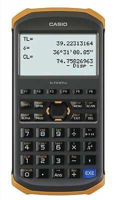 Casio Civil Engineering Surveying Specialized Calculator fx-FD10 Pro Free Ship