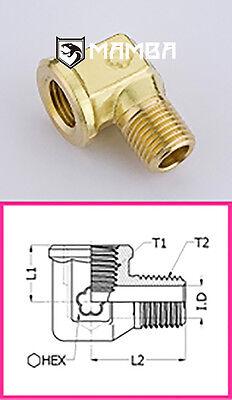 Brass Adapter Fitting Street Elbow 90 Degree 1/2 BSP Female to 1/2 BSP (50 pcs)