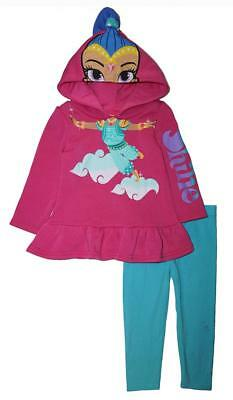 Shimmer and Shine Toddler Girls Costume Hooded Legging Set Size 2T 3T 4T - Toddler Girls Costume
