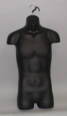Black Mannequin Male Torso Hanging Hook- Mens Dress Form