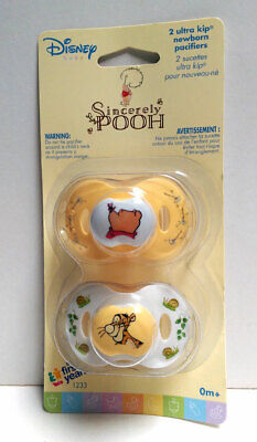Disney Sincerely WINNIE THE POOH 2 pcs Baby Pacifiers 0+ Months Yellow White NIP