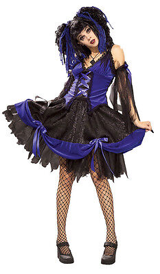 Lolita Gothic Vampire Victorian Doll Fancy Dress Up Halloween Teen Adult Costume - Women's Victorian Vampire Goth Dress Halloween Costume
