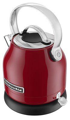 KitchenAid Stainless Steel Electric Water Tea Kettle Remvble Base RKEK1222ER Red