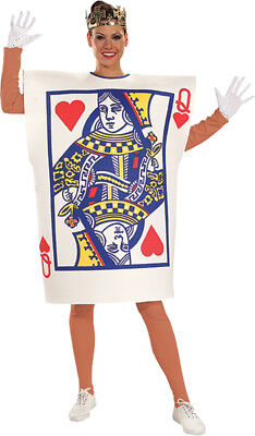 Queen Of Hearts Card Costume Adult Womens Alice Playing Cards Fancy Book Week - Queen Of Cards Costume