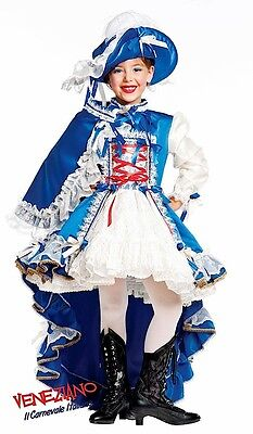 Italian Made Deluxe Girls French Musketeer Fancy Dress Costume Outfit 0-10 years