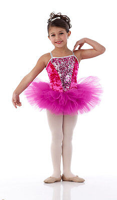 Sparkle Ballet Tutu Dance Costume SWEET NOTHING Pink Fuchsia Child & Adult S  - Adult Tutu Outfits