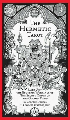The Hermetic Tarot By Godfrey Dowson 78 Cards Deck + 70 Page Instruction Booklet
